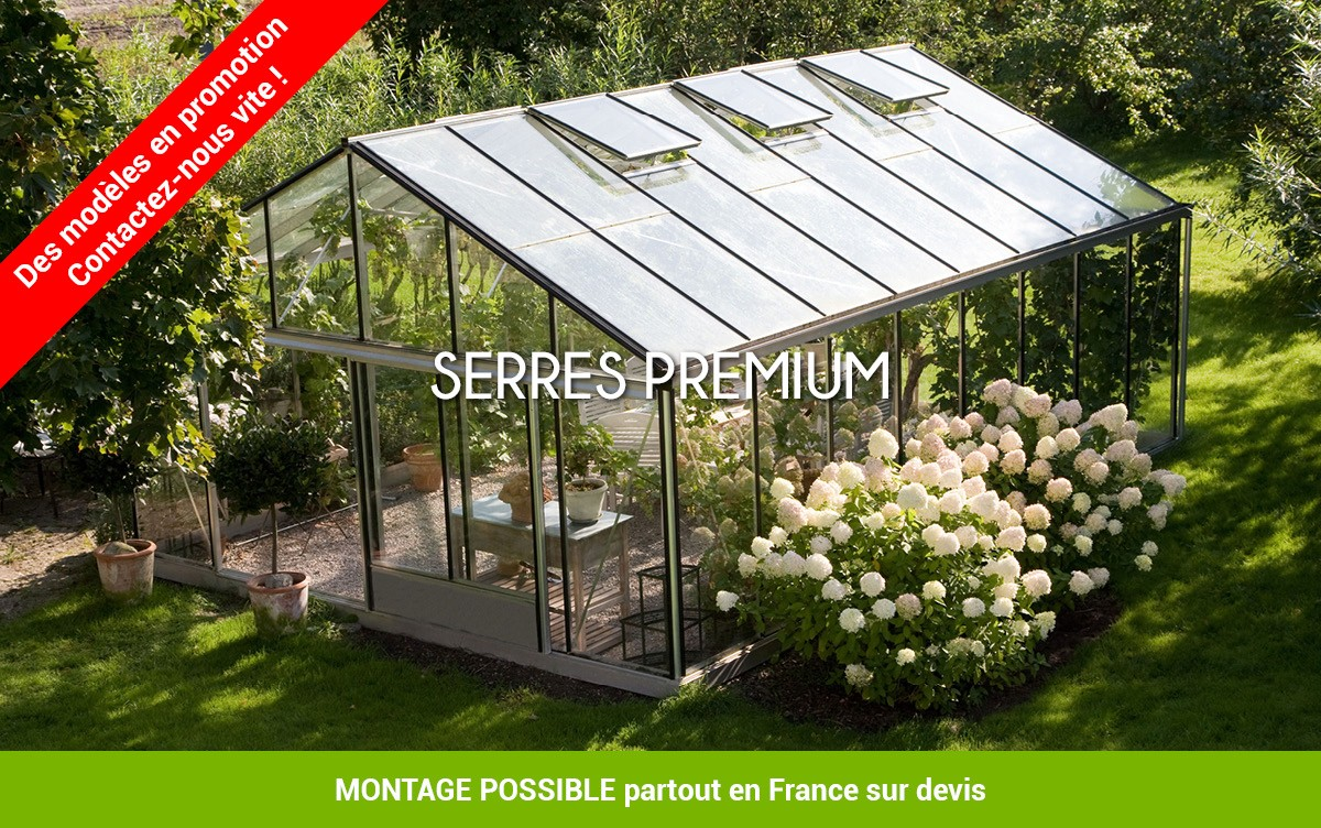 Prix serre en verre professionnel - Mobilier de jardin et ...