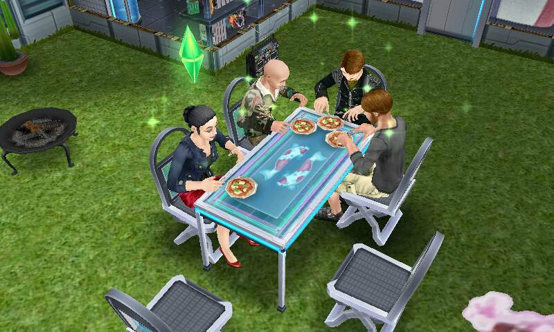 Sims 3 toboggan piscine