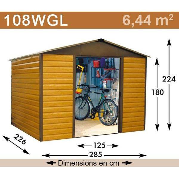 Abri de jardin métal 14 00 m2 yardmaster