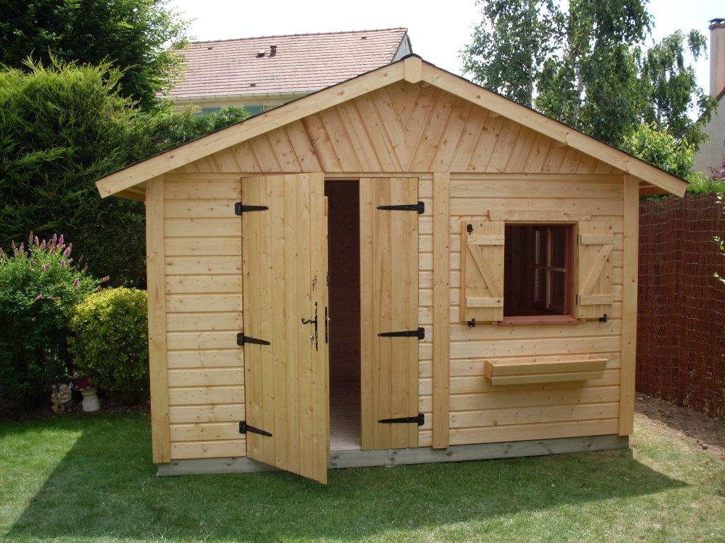 Cabane en bois de jardin