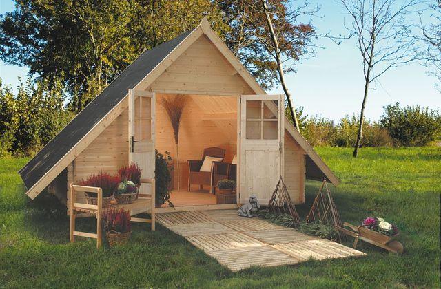 Cabane de jardin style cabine de plage