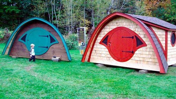 Cabane de jardin hobbit