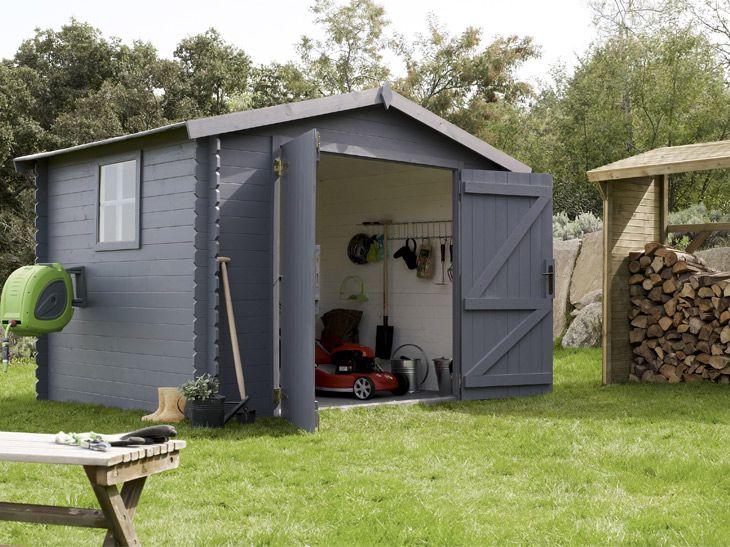 Cabane de jardin grise