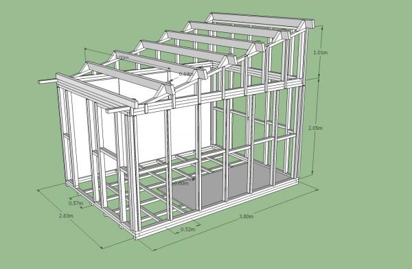 Plan d\'abri de jardin en parpaing - Mobilier de jardin et ...