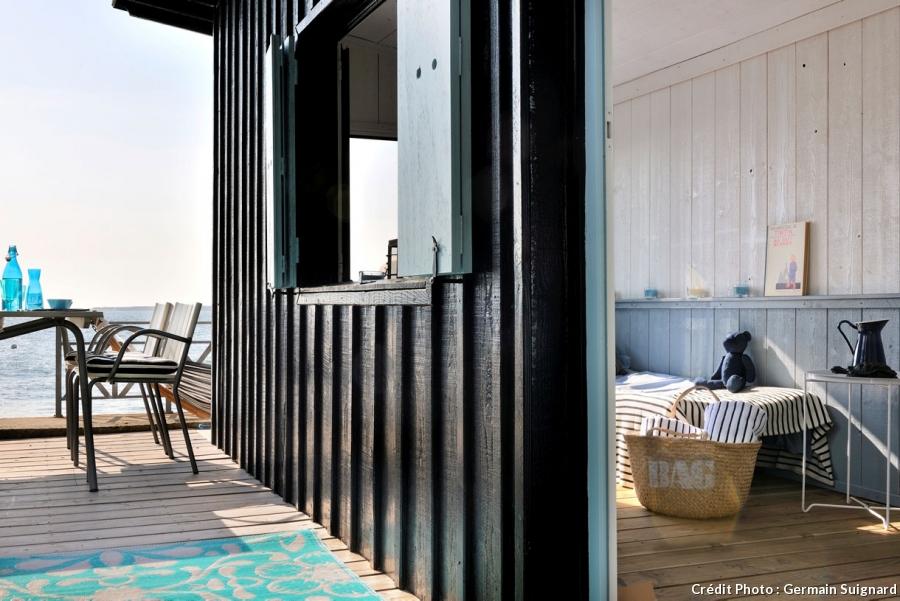Cabane de jardin bord de mer