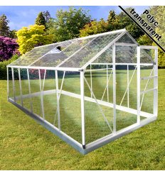 Serre de jardin 6 25m2 abris plante en alu et polycarbonate
