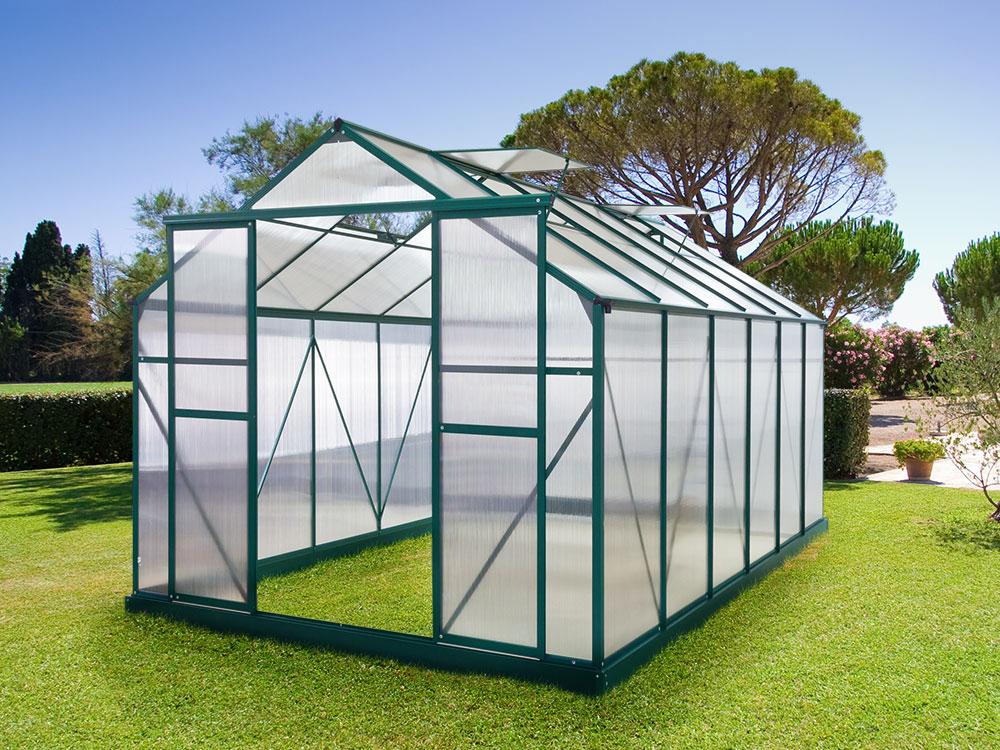 Serre de jardin polycarbonate 3 6m2