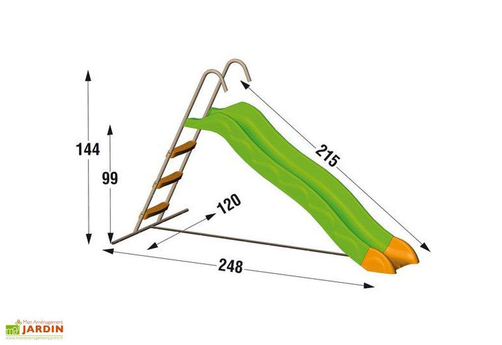 Toboggan x-stream 2 63 m de glisse