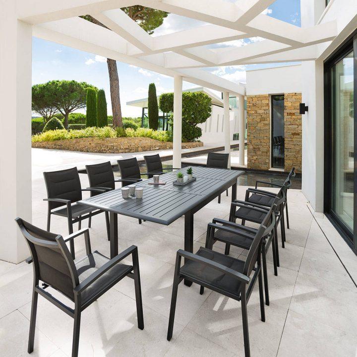 Stunning Salon De Jardin Oceo Aluminium Fiero Contemporary ...