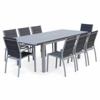 Salon de jardin en aluminium majestic table carrée ...