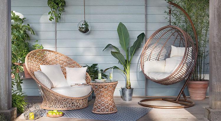 Salon de jardin osier ikea