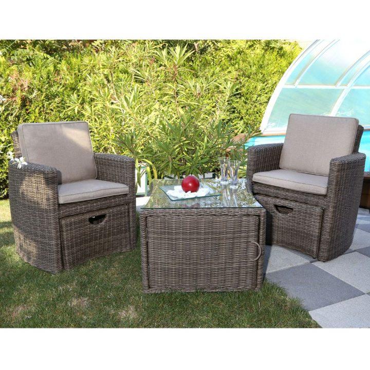 Salon de jardin aluminium et fibre de ciment - Mobilier de jardin et ...