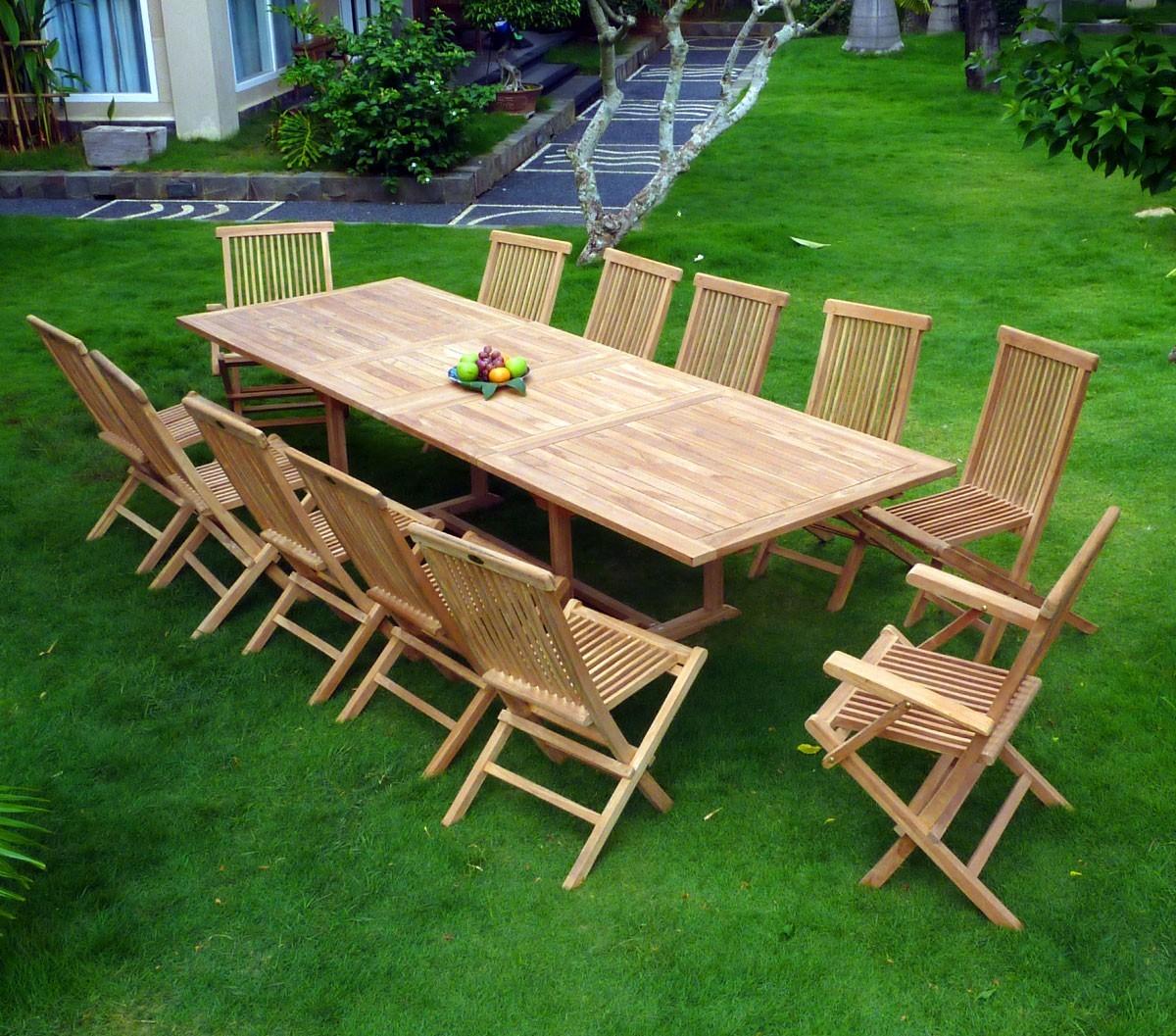 Salon de jardin teck promo - Mobilier de jardin et terasse