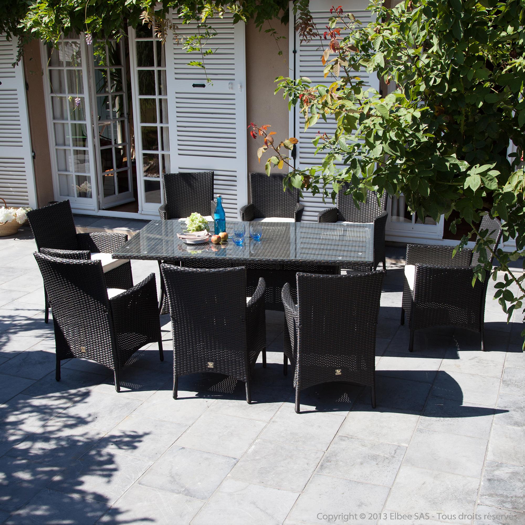 Best Table De Jardin En Bois Delamaison Gallery - House Design ...