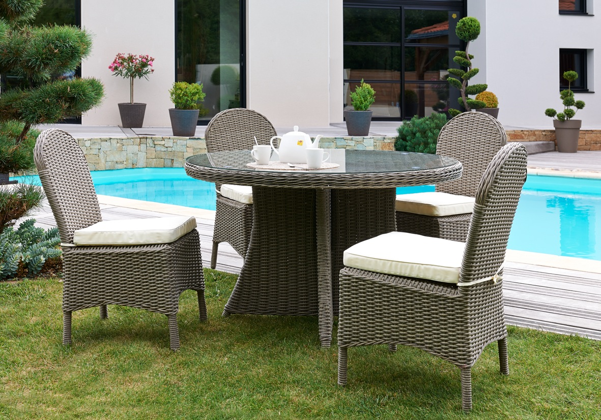 salon de jardin pas cher table ronde mobilier de jardin. Black Bedroom Furniture Sets. Home Design Ideas