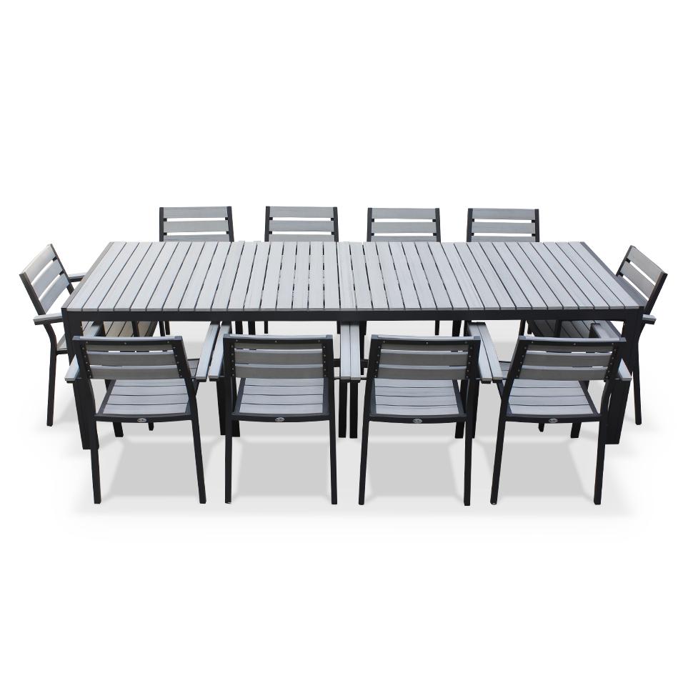 Salon de jardin aluminium 12 personnes