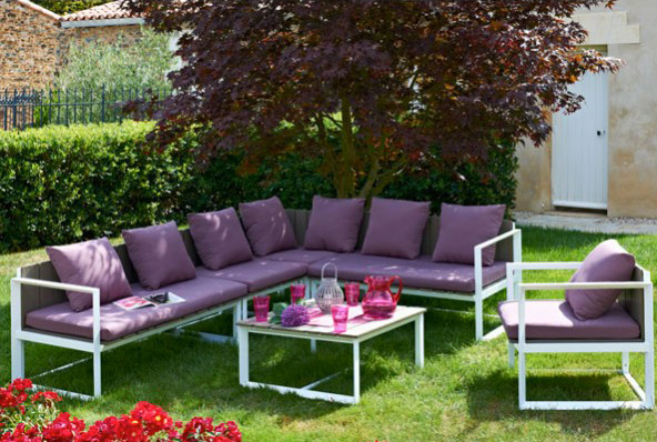 Grand salon de jardin aluminium