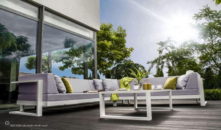 Salon de jardin alu blanc et gris