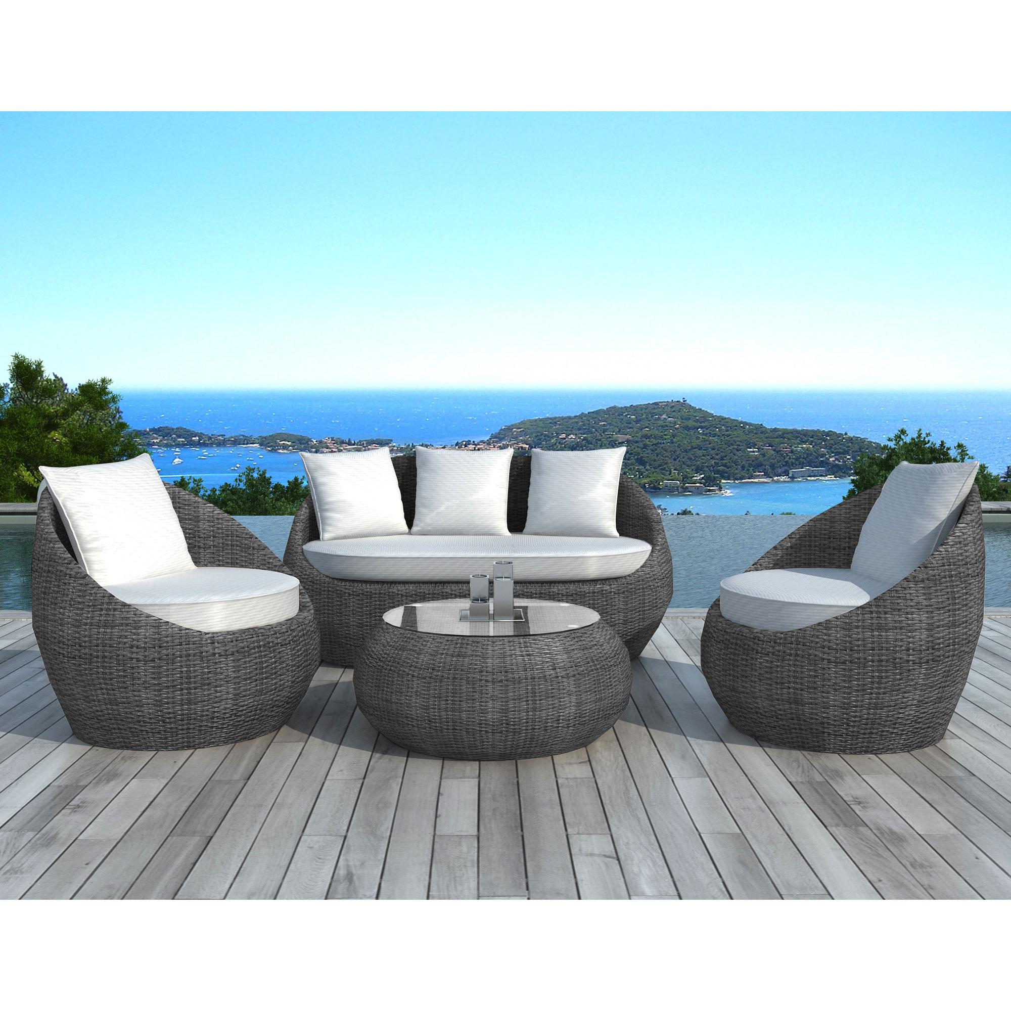 Salon de jardin resine tressee haut de gamme mobilier de jardin et terasse - Salon de jardin haut de gamme resine tressee ...