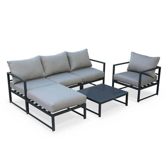 Salon de jardin aluminium modulable