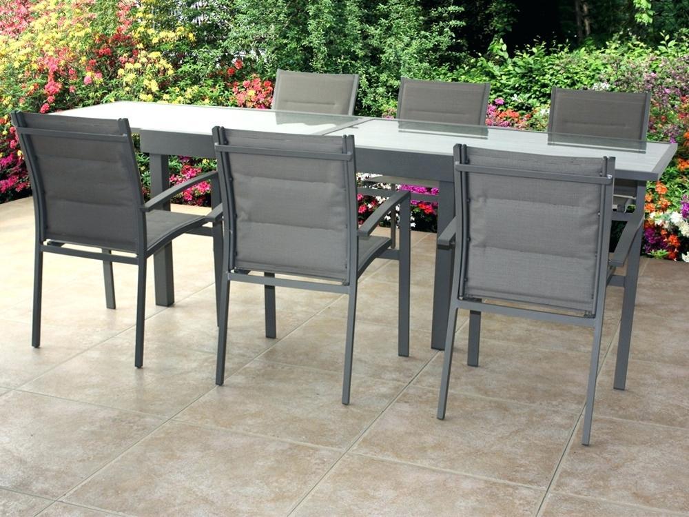 Salon de jardin aluminium couleur taupe - Mobilier de jardin ...