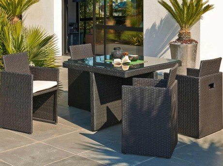 salon de jardin resine leroy merlin 179 euros mobilier. Black Bedroom Furniture Sets. Home Design Ideas