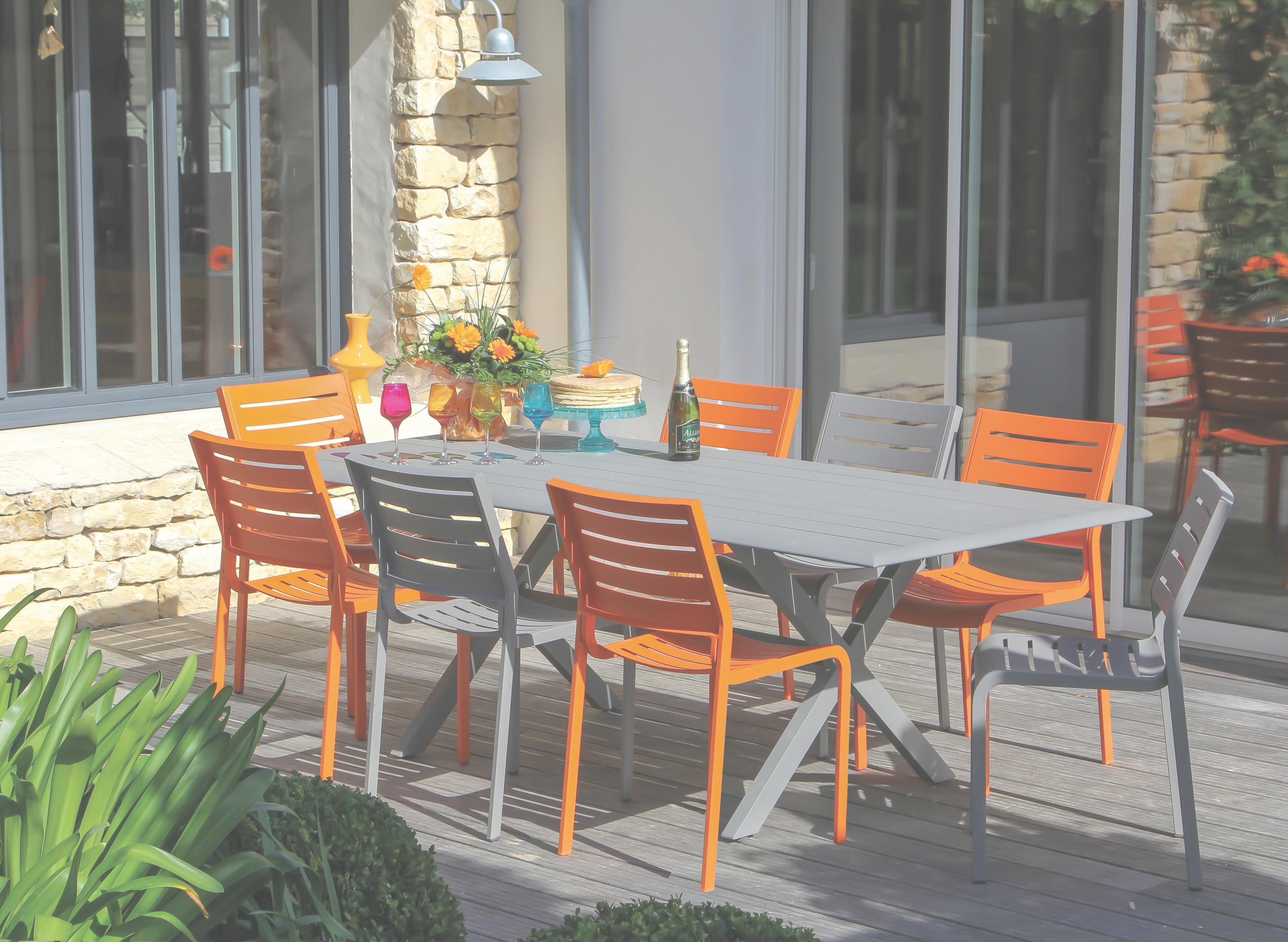 Salon de jardin aluminium proloisirs - Mobilier de jardin et terasse
