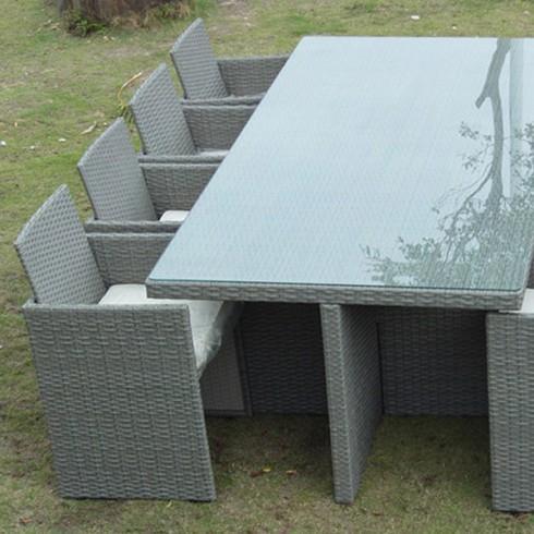 Salon de jardin resine gris encastrable - Mobilier de jardin ...