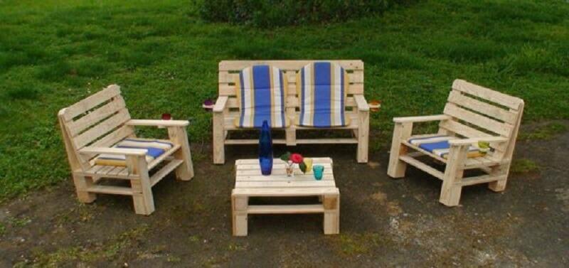Comment fabriquer salon de jardin en palette de bois