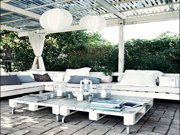 Salon de jardin en palette europe - Mobilier de jardin et ...