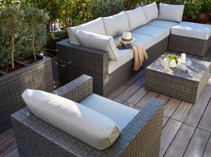 Salon de jardin en aluminium factory - Mobilier de jardin et ...