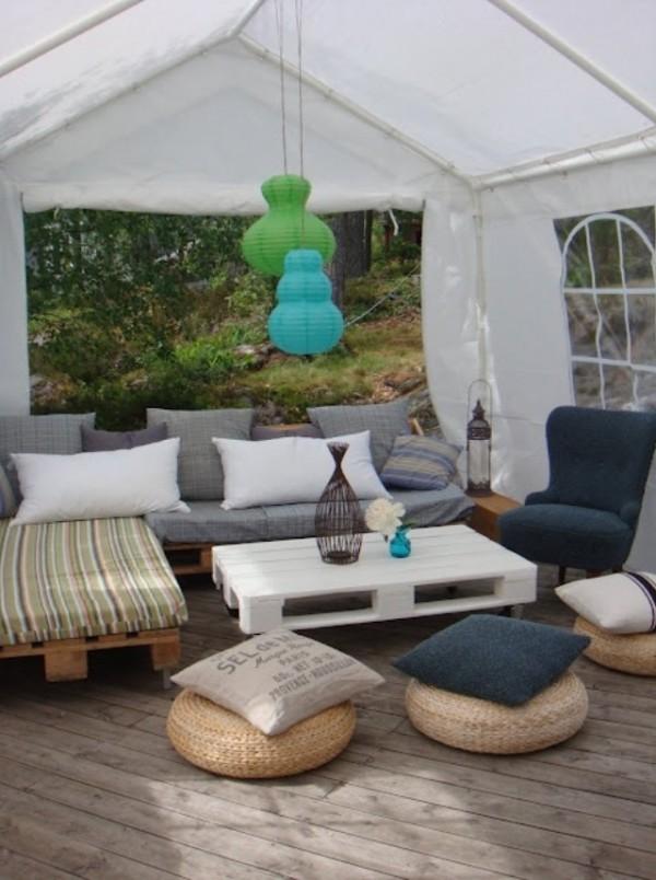Salon de jardin pas cher en palette - Mobilier de jardin et ...