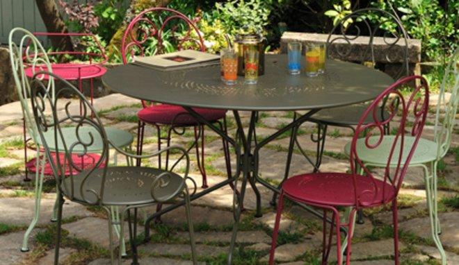 Salon de jardin metal retro - Mobilier de jardin et terasse