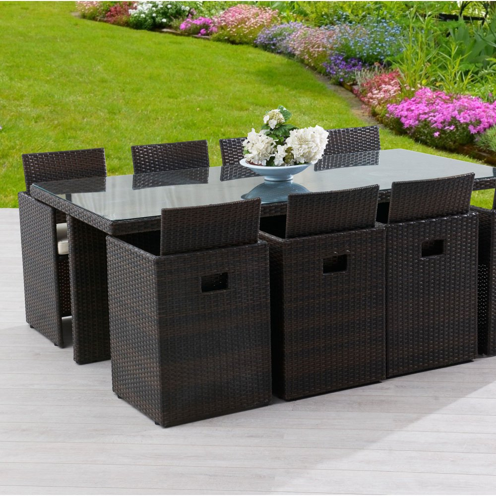 Salon de jardin aluminium bois composite - Mobilier de jardin et terasse