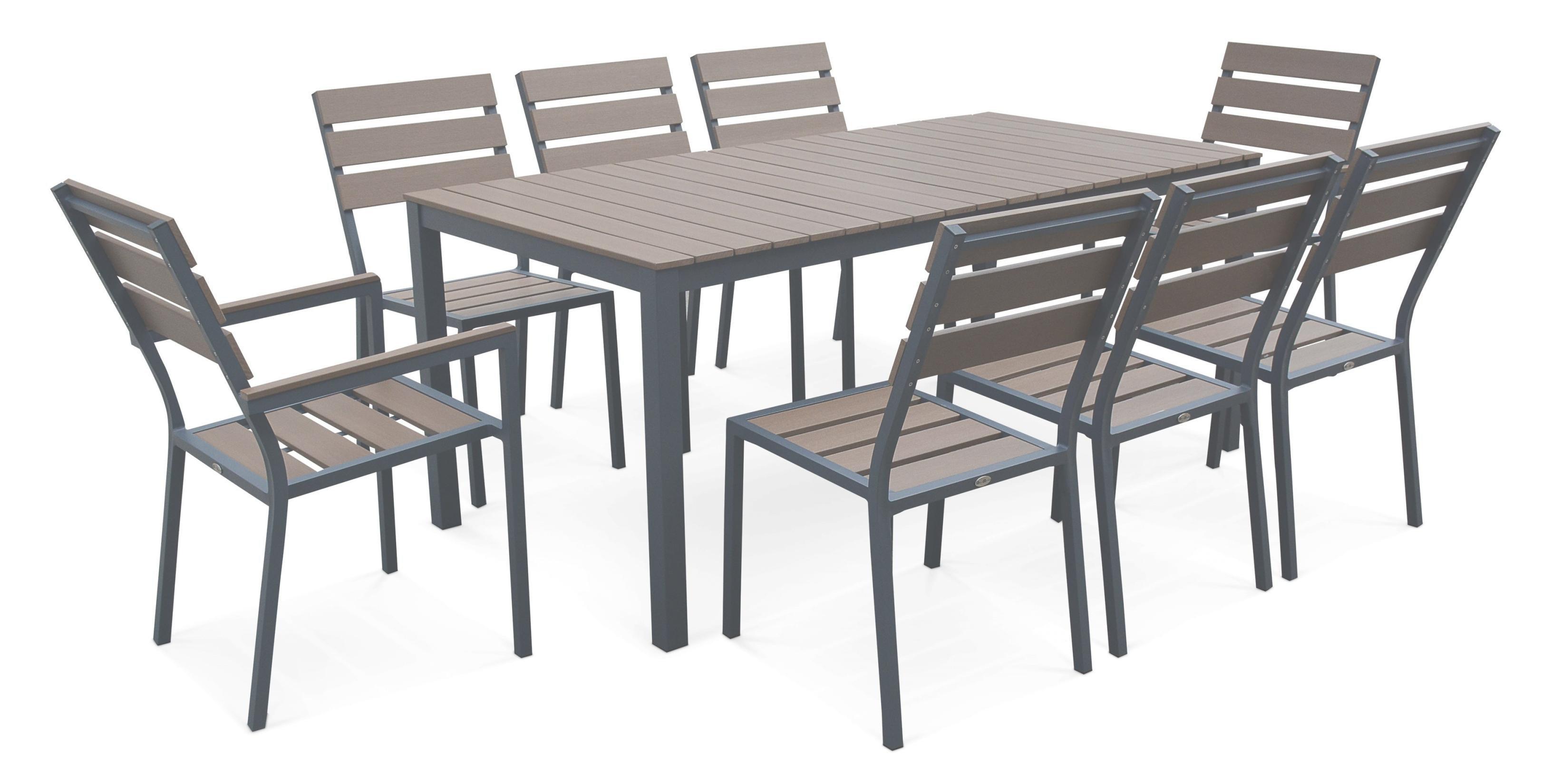 Salon de jardin alu polywood