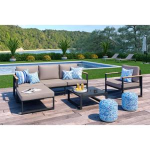 Salon de jardin en aluminium collection lagoa