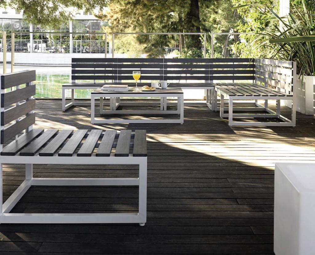 Salon de jardin alu et fibre ciment alton