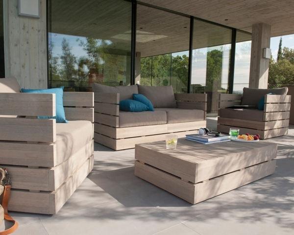 Salon de jardin pied alu - Mobilier de jardin et terasse