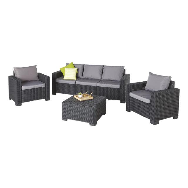 salon de jardin 5 places resine mobilier de jardin et. Black Bedroom Furniture Sets. Home Design Ideas