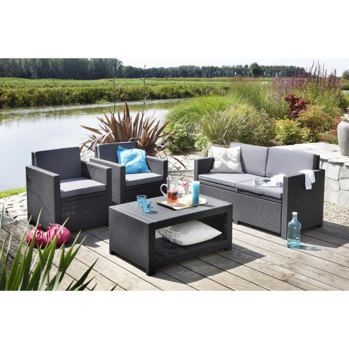 Table jardin plastique - Mobilier de jardin et terasse