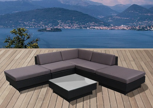 salon de jardin resine coussin gris mobilier de jardin. Black Bedroom Furniture Sets. Home Design Ideas