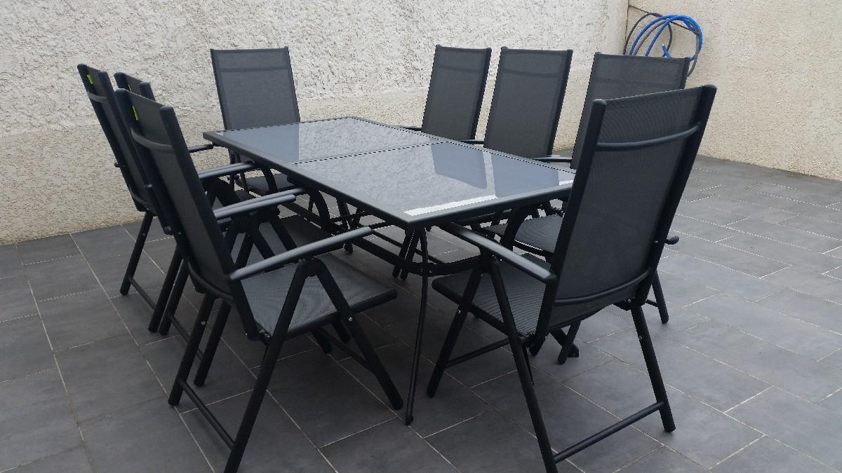 Salon de jardin naevia en aluminium