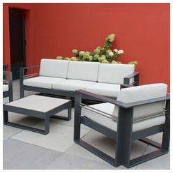 Salon de jardin aluminium bas - Mobilier de jardin et terasse