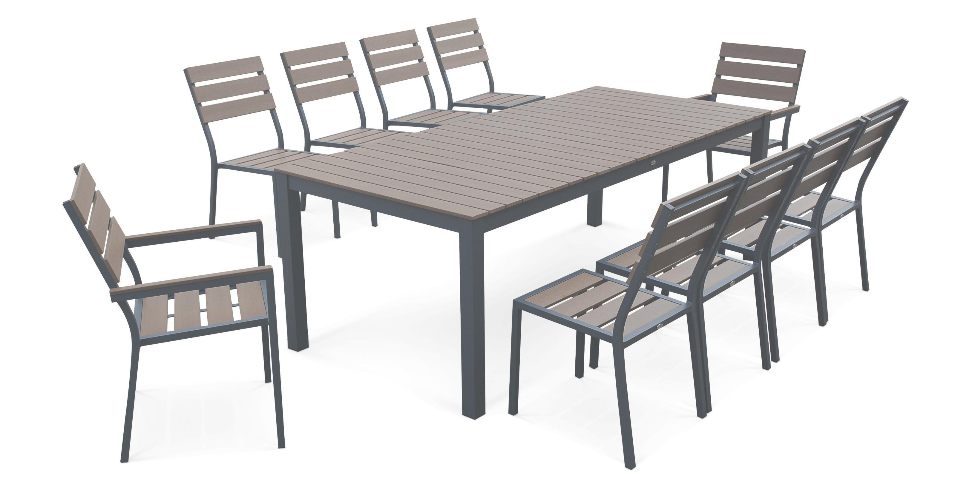 Salon de jardin aluminium bois - Mobilier de jardin et terasse