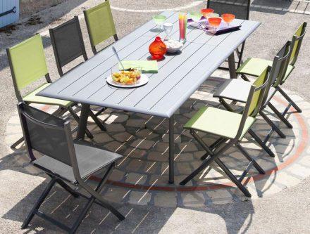 Salon de jardin aluminium pliable - Mobilier de jardin et ...