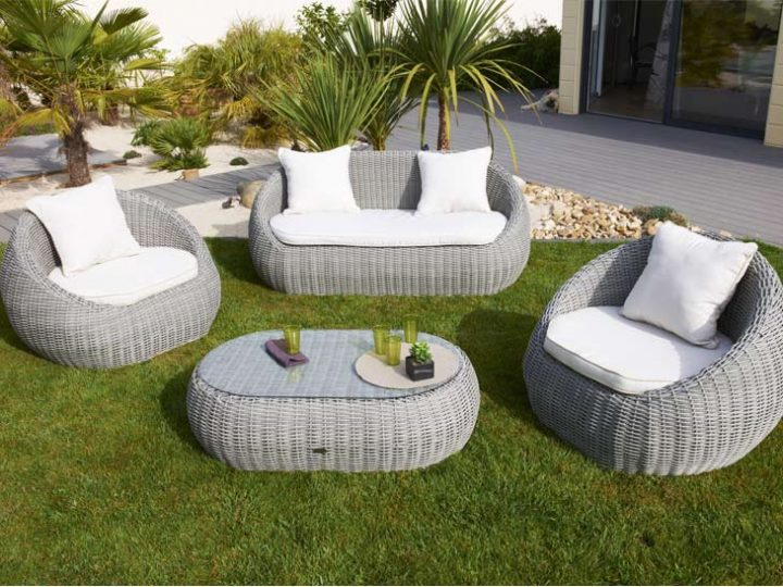 Salon de jardin aluminium et toile - Mobilier de jardin et terasse