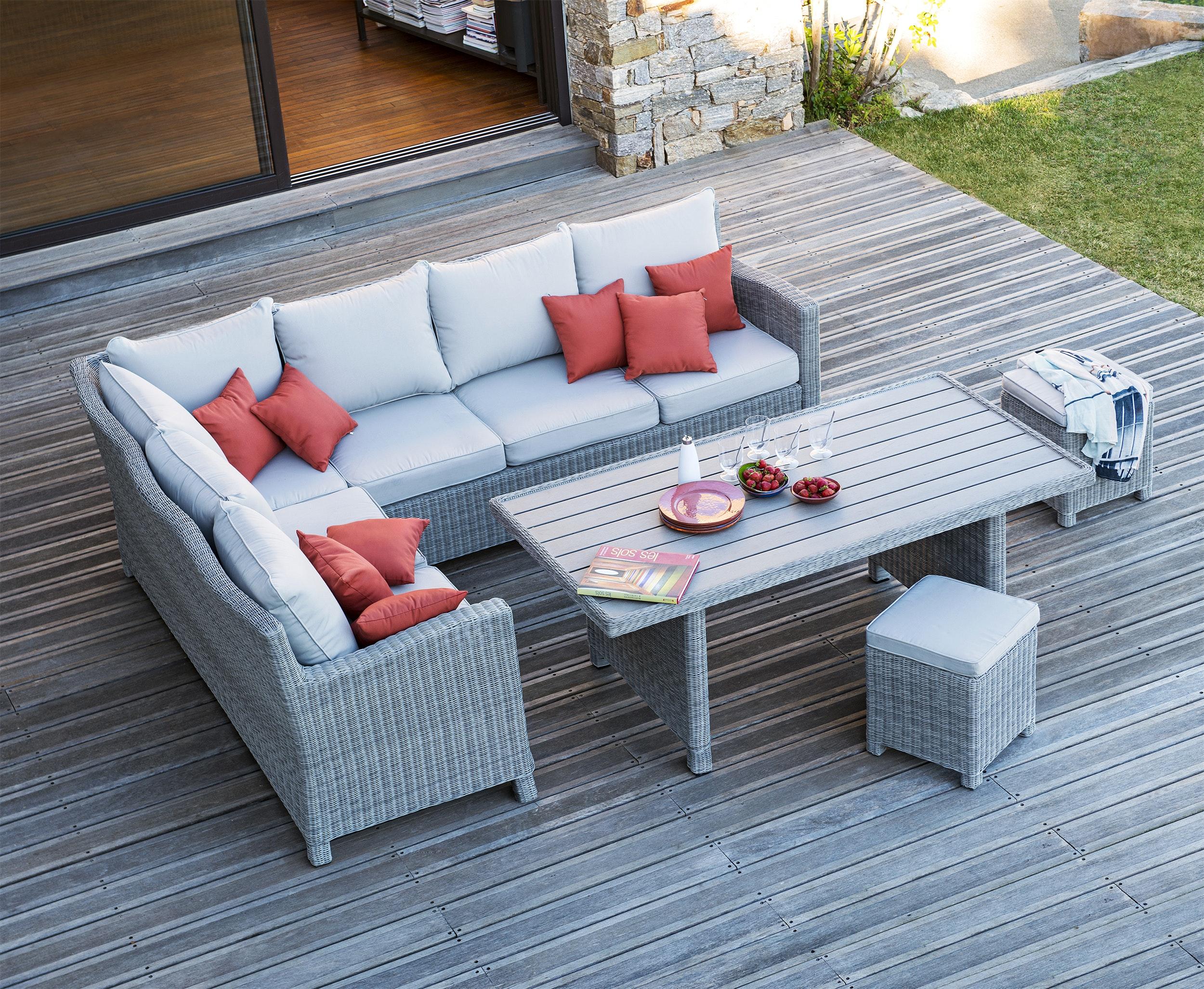 Salon de jardin milano aluminium - Mobilier de jardin et terasse