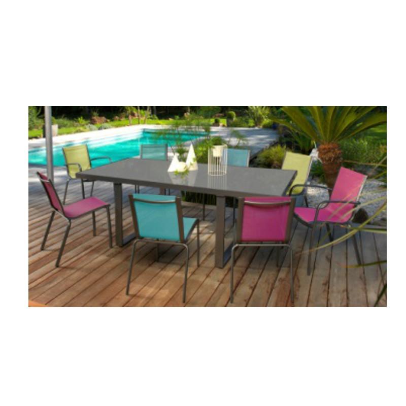 Salon de jardin alu et textilene nova - Mobilier de jardin et terasse
