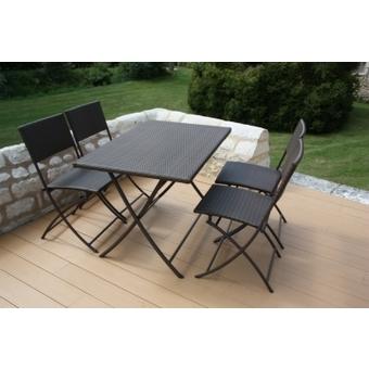 Salon de jardin aluminium pliable - Mobilier de jardin et terasse