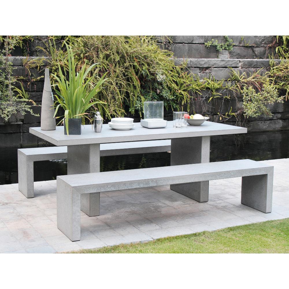 Salon de jardin aluminium et fibre de ciment